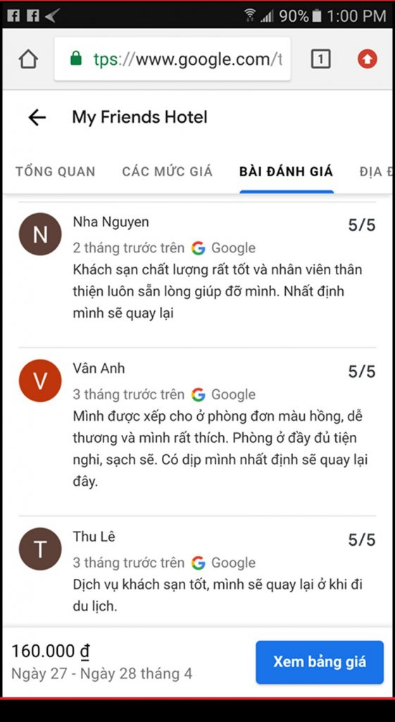dịch vụ review google map